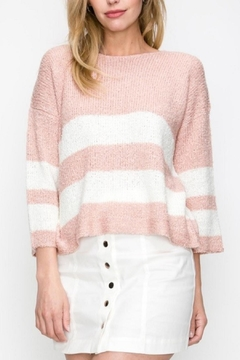 Favlux Pink Striped Sweater - Product List Image