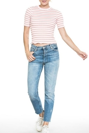 En Creme Pink Striped Tee - Product Mini Image