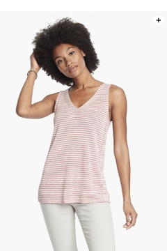 Nic + Zoe  Pink stripped knit tank - Product List Image