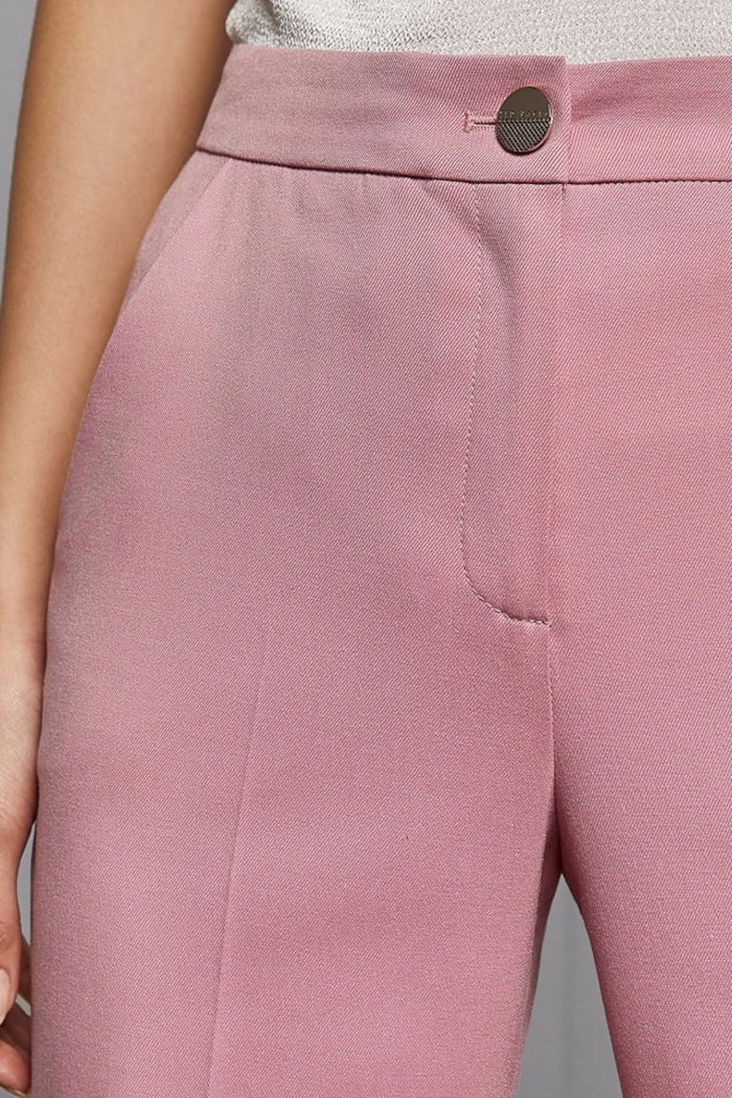Ted Baker London Pink Suit Trouser - Front Full Image