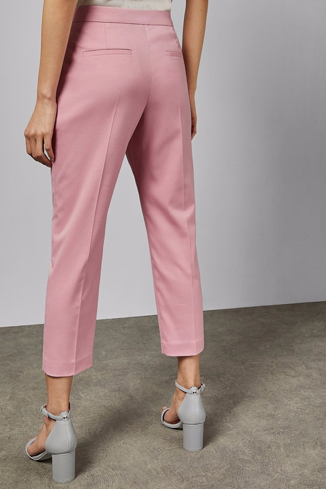Ted Baker London Pink Suit Trouser - Side Cropped Image