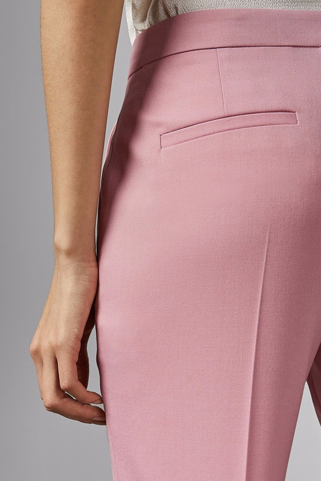 Ted Baker London Pink Suit Trouser - Back Cropped Image