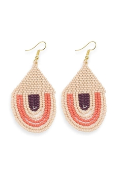 Ink + Alloy Pink Sunset Seed Bead Earring - Alternate List Image