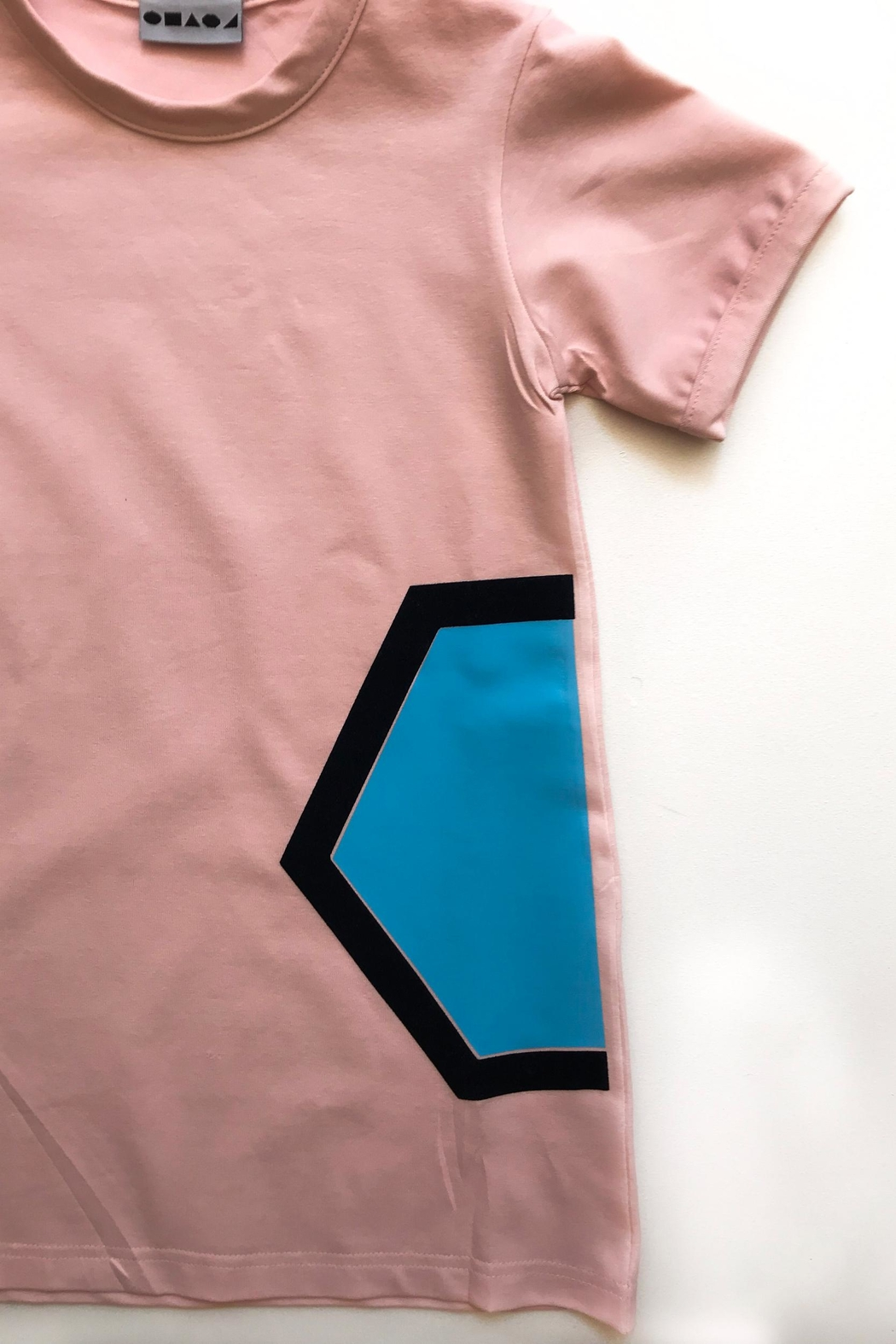 Shapes Of Things Pink T-Shirt Dress - Front Full Image