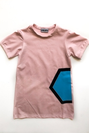 Shapes Of Things Pink T-Shirt Dress - Front cropped