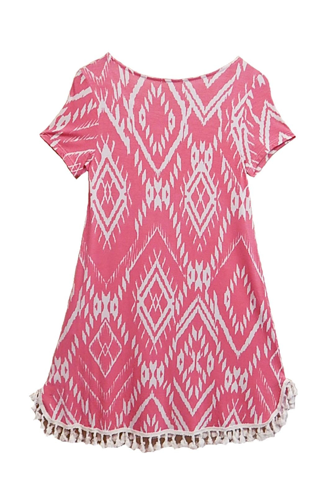 12pm by Mon Ami Pink Tassel Dress - Front Full Image