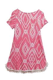 12pm by Mon Ami Pink Tassel Dress - Front full body