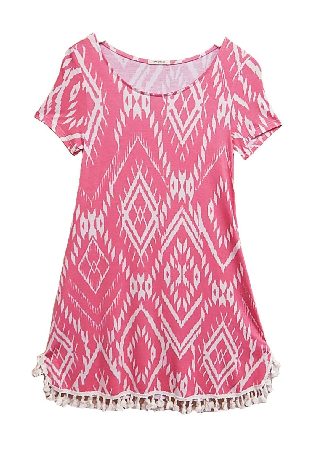 12pm by Mon Ami Pink Tassel Dress - Main Image