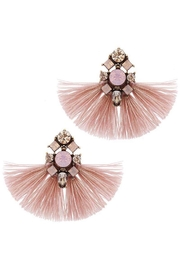 Baggis Accesorios Pink Tassel Earring - Front cropped