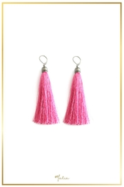 Malia Jewelry Pink Tassel Earrings - Product Mini Image