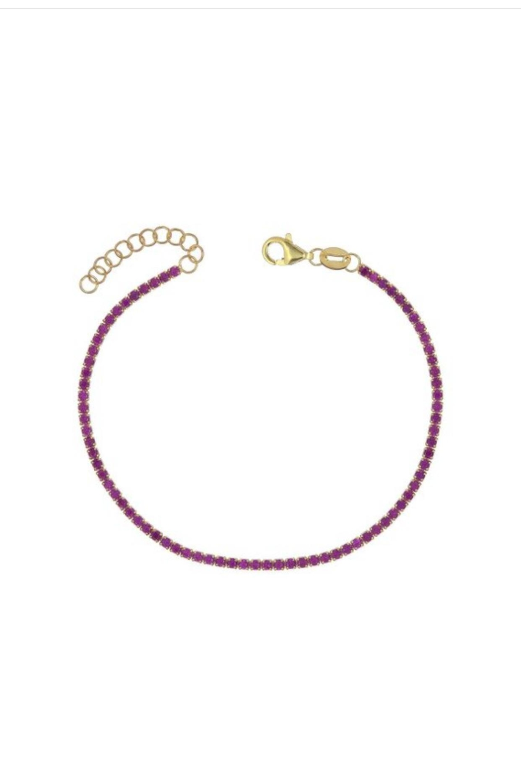 Adina S Jewels Pink Tennis Bracelet Front Cropped Image