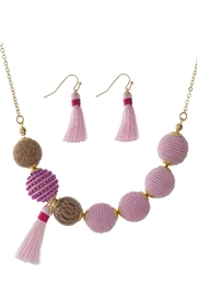Mimi's Gift Gallery Pink Thread-Wrapped Beads - Product Mini Image