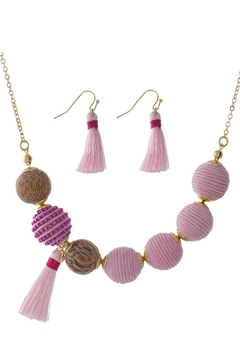 Mimi's Gift Gallery Pink Thread-Wrapped Beads - Alternate List Image