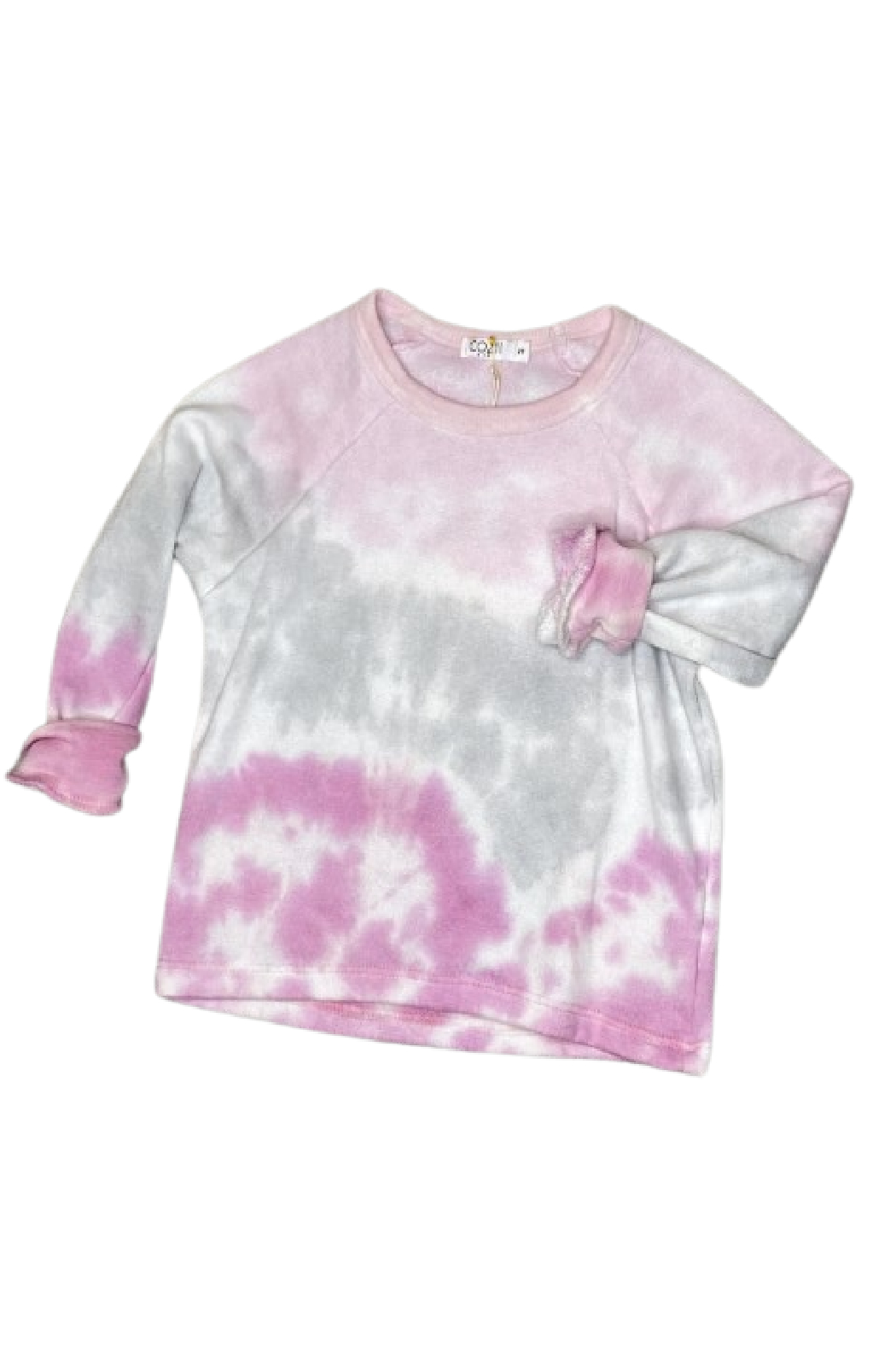 Cozii Pink Tie Dye Pullover Crew - Main Image