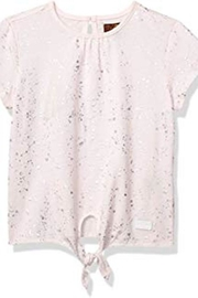 7 For all Mankind Pink Tie-Front Top - Product Mini Image