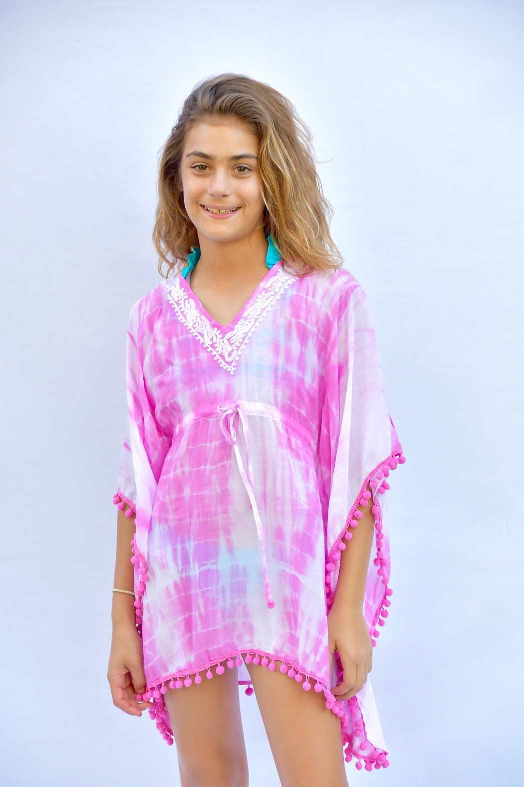 Melissa Odabash Pink Tiedye Coverup - Side Cropped Image