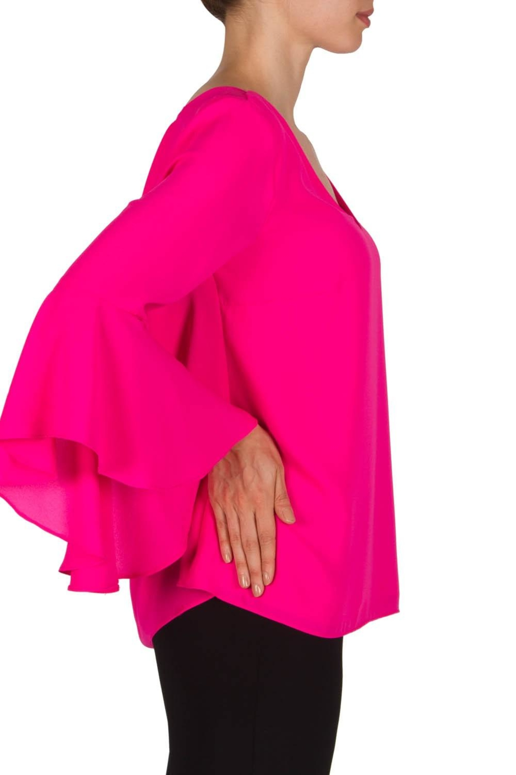 Joseph Ribkoff Pink Top - Side Cropped Image