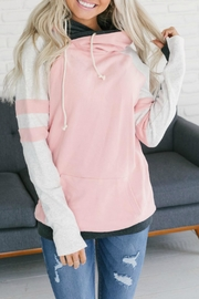 Ampersand Pink Track Double-Hoodie - Product Mini Image