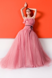 Monique Lhullier Pink Tulle Gown - Product Mini Image