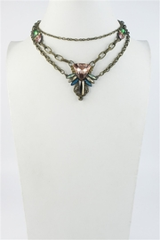 Sweet Romance Pink-Turquoise Crystal Necklace - Front cropped