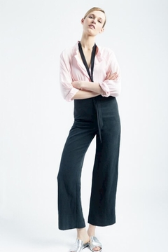 Smythe Pink Tuxedo Blouse - Alternate List Image