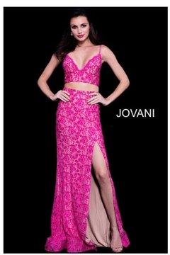 Jovani PROM Pink Two Piece - Product List Image