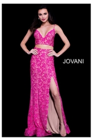 Jovani PROM Pink Two Piece - Product Mini Image