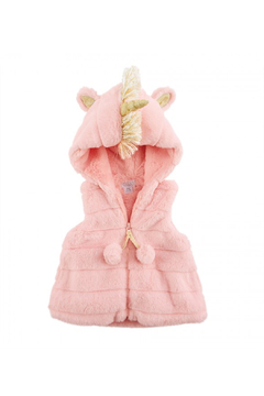 MudPie Pink Unicorn Vest - Alternate List Image