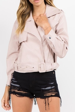 Shoptiques Product: Pink Vegan Jacket