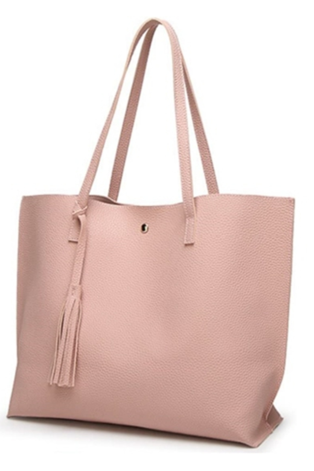 Mimi's Gift Gallery Pink Vegan Leather Tote - Main Image
