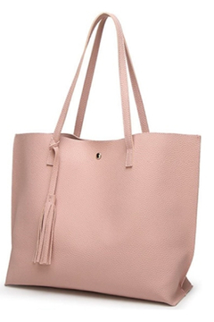 Mimi's Gift Gallery Pink Vegan Leather Tote - Product List Image