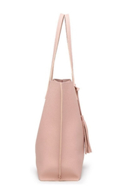 Mimi's Gift Gallery Pink Vegan Leather Tote - Other