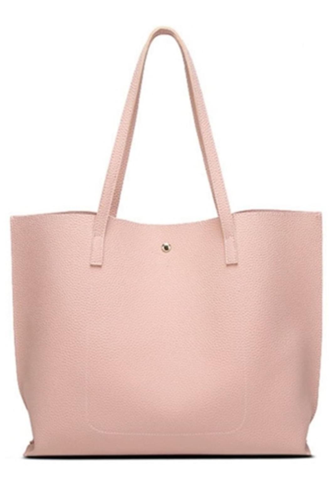 Mimi's Gift Gallery Pink Vegan Leather Tote - Front Full Image