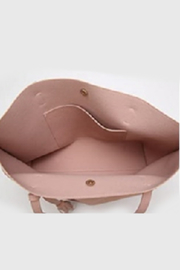 Mimi's Gift Gallery Pink Vegan Leather Tote - Side cropped