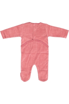 Pounds and Ounces Pink Velour Stretchy - Alternate List Image