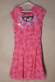 DESIGUAL Pink Victoria Dress - Front cropped