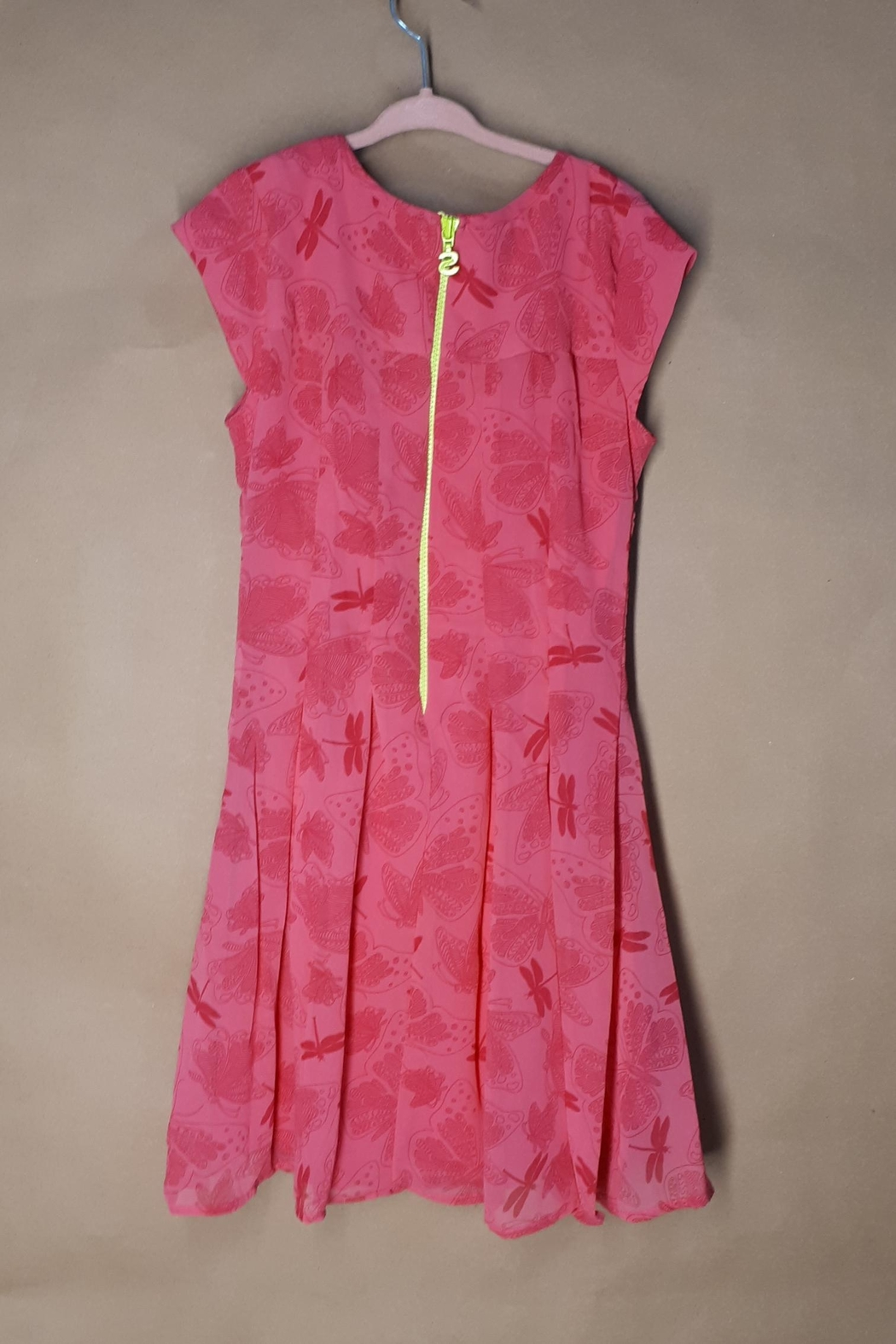 DESIGUAL Pink Victoria Dress - Front Full Image