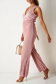 frontrow Pink Vneck Jumpsuit - Product Mini Image