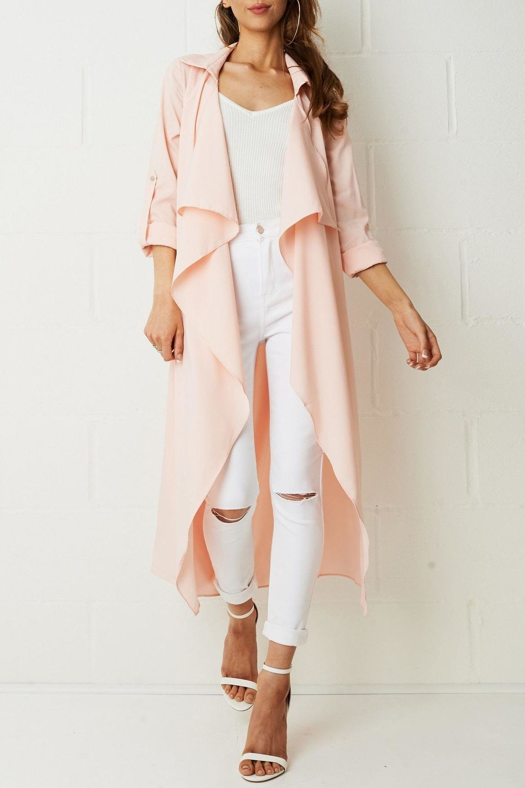 frontrow Pink Waterfall Coat - Main Image