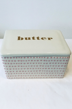Bloomingville Pink/white Butter Dish - Product List Image