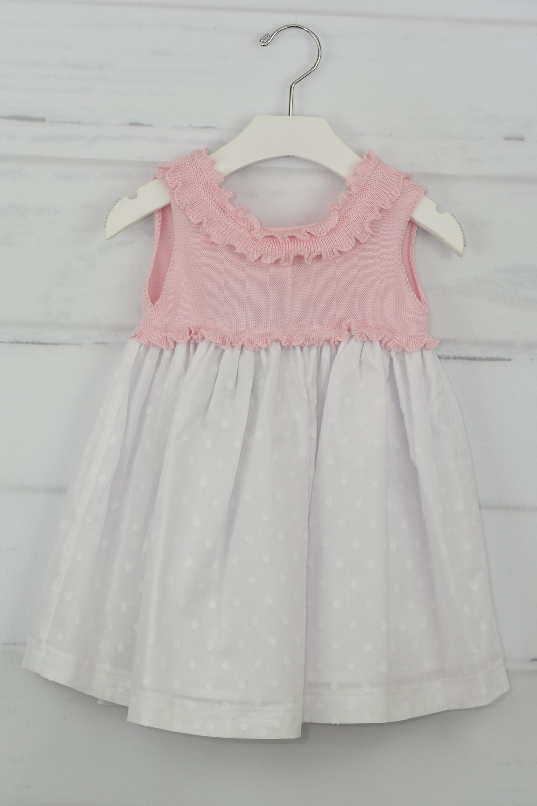 Granlei 1980 Pink & White Dress - Side Cropped Image