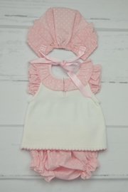 Granlei 1980 Pink & White Outfit - Front full body