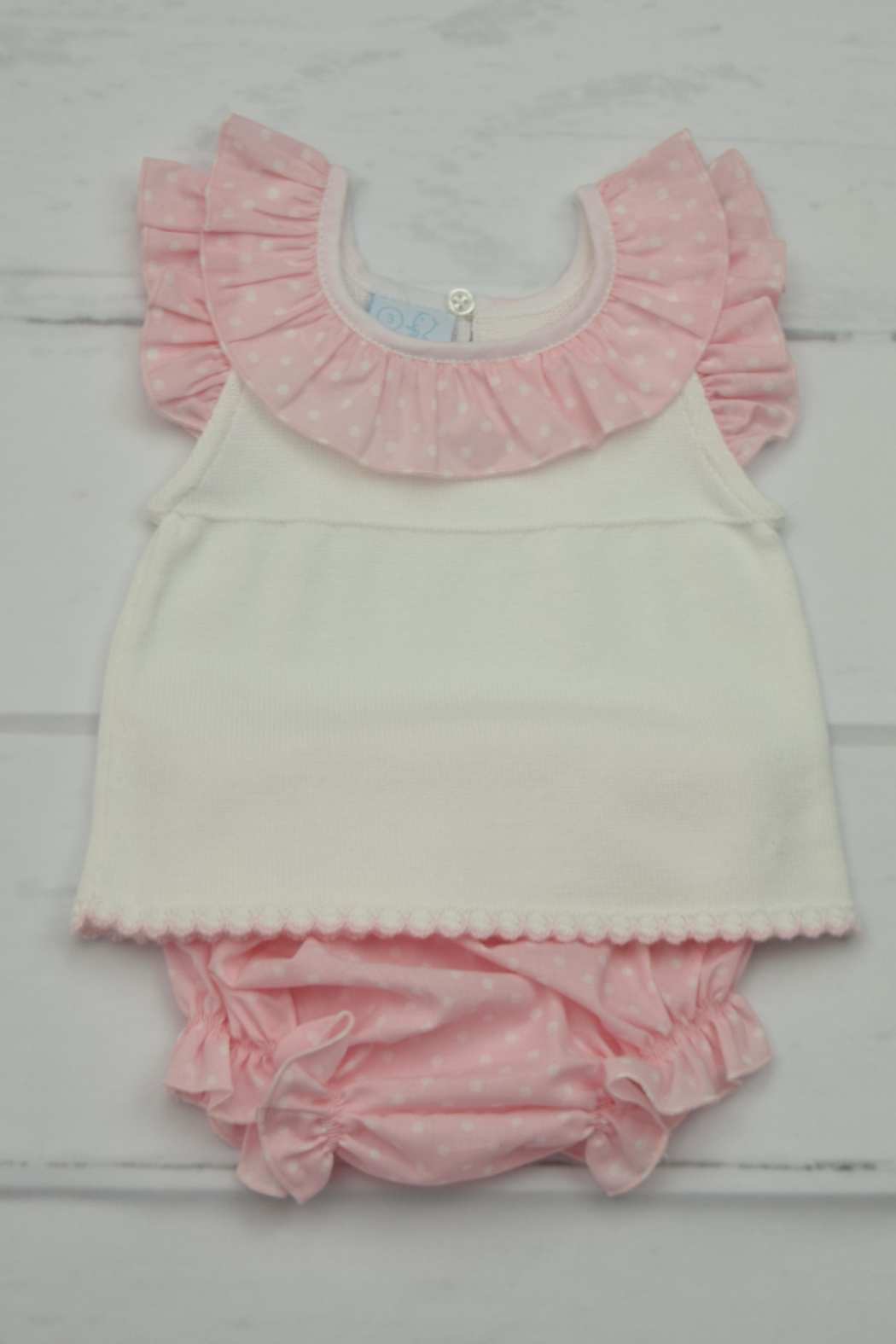 Granlei 1980 Pink & White Outfit - Back Cropped Image