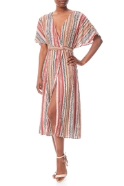 Compendium boutique Pink Wrap Kaftan - Front full body