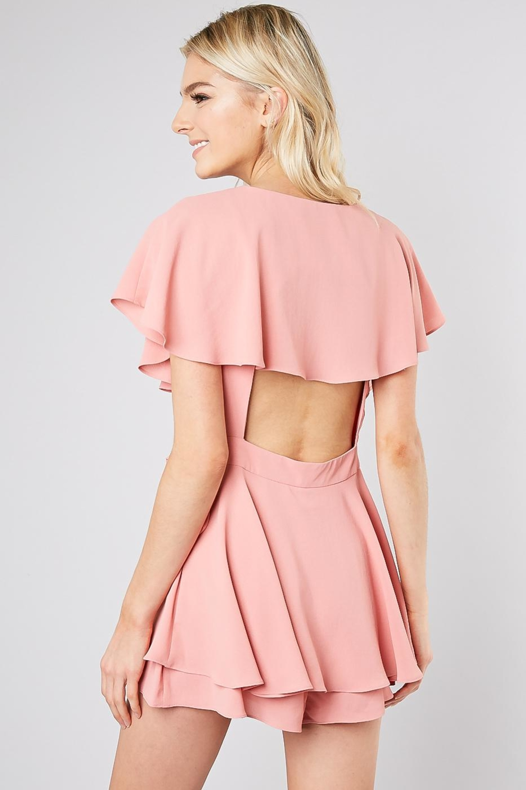 Do & Be Pink Wrap Playsuit - Side Cropped Image