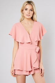 Do & Be Pink Wrap Playsuit - Front cropped