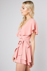 Do & Be Pink Wrap Playsuit - Front full body
