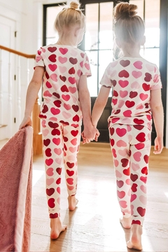 Pink Chicken Tween Hearts Pj - Alternate List Image