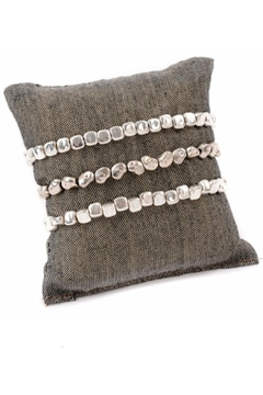 Pink House Silver Nuget Bracelets - Alternate List Image