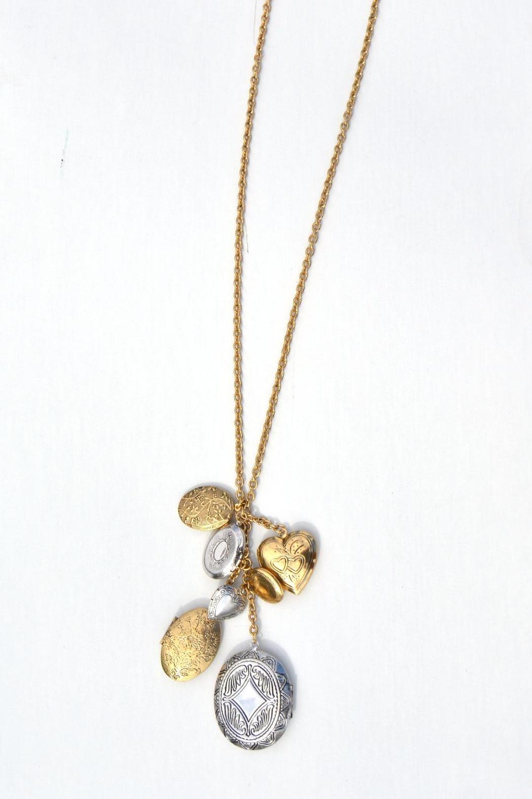Pink House Boutique 7 Locket Necklace - Front Cropped Image